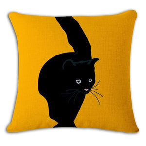 Pet Stop Store 7 / 45x45cm Fun & Playful Decorative Cat Lovers Pillow Covers