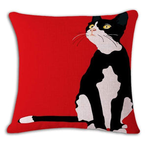 Pet Stop Store 8 / 45x45cm Fun & Playful Decorative Cat Lovers Pillow Covers