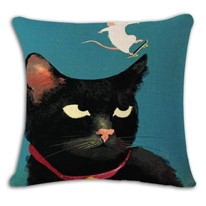 Pet Stop Store 9 / 45x45cm Fun & Playful Decorative Cat Lovers Pillow Covers