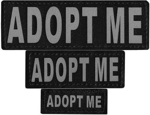 Pet Stop Store ADOPT ME xs Reflective Removable Patches for Dog Vests & Harness