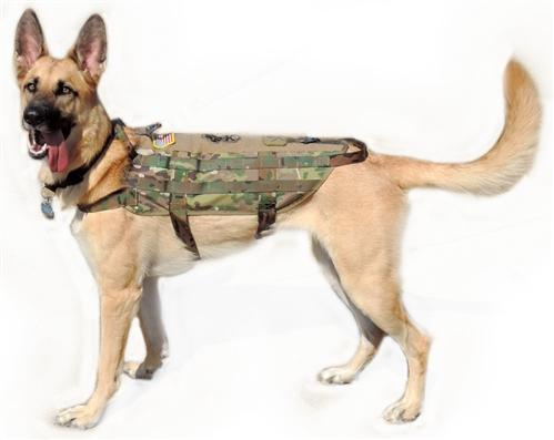 Army Green Military Tactical K9 Operator Dog Harness