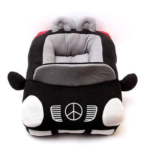 Pet Stop Store Black / M Plush Mercedes Benz Dog Bed Black & Red
