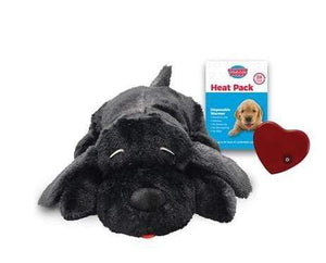 Pet Stop Store Black Snuggle Puppy Smart Pet with Heartbeat for Dogs