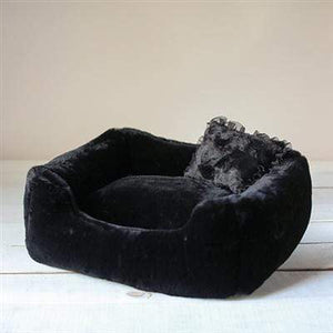 Pet Stop Store Black The Divine Dog Bed in Colors Black, Gray & White