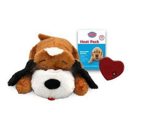 Pet Stop Store Brown & White Snuggle Puppy Smart Pet with Heartbeat for Dogs