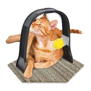 Pet Stop Store Carpet Based Hands Free Cat Arch Groomer for Scratching