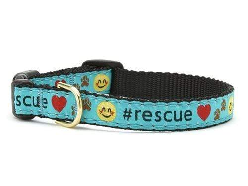 Adorable Blue with Hearts #Rescue Cat Collar