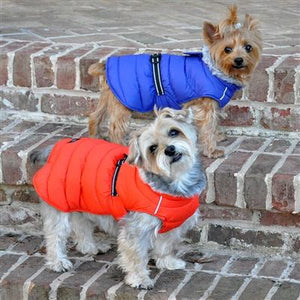Pet Stop Store Coral Orange Alpine Extreme Cold Puffer Dog Coat