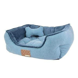 Pet Stop Store Cozy Comfy Plush Powder Blue Presley Dog Bed