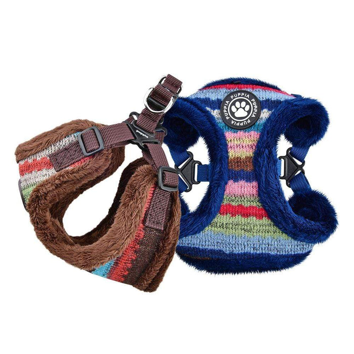 Crayon Dog Harness in Colors Navy & Brown