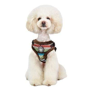 Pet Stop Store Crayon Dog Harness in Colors Navy & Brown