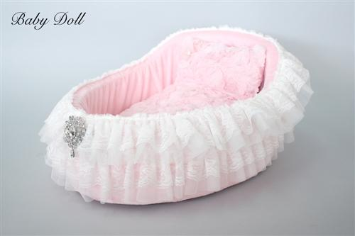 Crib Dog Bed with Pillow