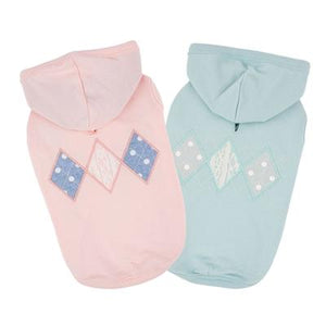 Pet Stop Store Cute & Comfy Pink & Blue Carys Sleeveless Dog Hoodies