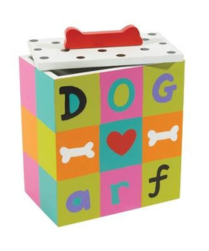 Pet Stop Store Cute & Colorful Hand Painted Collection Arf Dog Treat Box