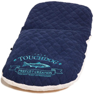 Pet Stop Store Dark Blue Diamond Stitched Indoor Panoramic Designer Fleece Dog Bed