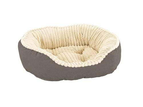 "Ethical Pet Carved Plush 21"" Gray Dog Bed"