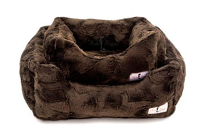 Pet Stop Store Fancy Fresh Chocolate Luxe Dog Bed