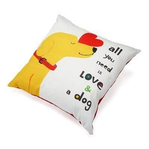 "Pet Stop Store Fun All You Need is Love and a Dog Throw Pillow  (20"" x 20"")"