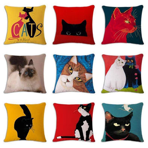 Pet Stop Store Fun & Playful Decorative Cat Lovers Pillow Covers