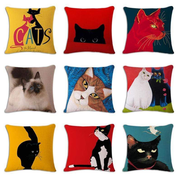 Fun & Playful Decorative Cat Lovers Pillow Covers