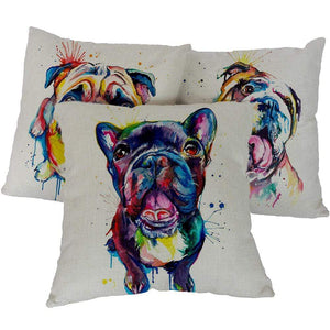 Pet Stop Store Fun & Playful Dog Printed Pillow Covers for Home or Office