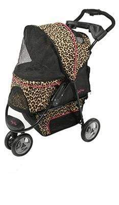 G7 Jogger Cheetah Print Pet Stroller for pets up to 50 lbs