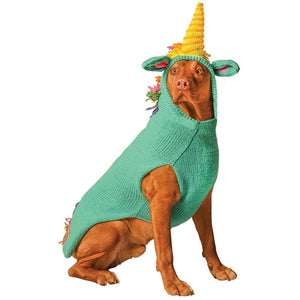 Pet Stop Store Green Handmade Unicorn Dog Hoodie