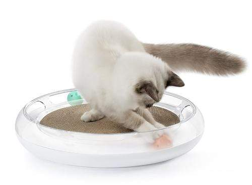 Swipe Interactive Scratcher Lounger & Chaser Puzzle Cat Toy