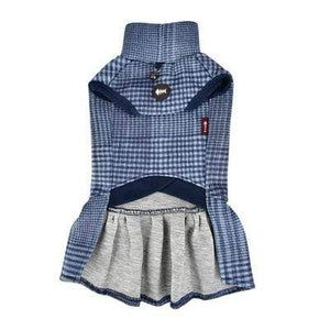 Pet Stop Store Leah Turtleneck Cat Dress Navy Blue & Violet