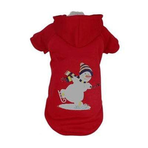 Pet Stop Store LED Red Holiday Snowman Dog Hoodie