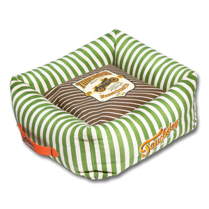 Pet Stop Store medium Brown Neutral-Striped Ultra-Plush Designer Dog Bed