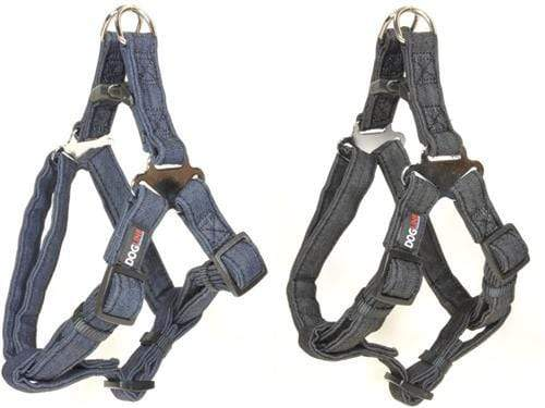 Modern Denim Durable and Padded Step-In Dog Harness & Leash