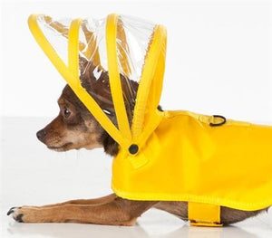 Pet Stop Store Modern, Functional Yellow Dog Raincoat with Hood
