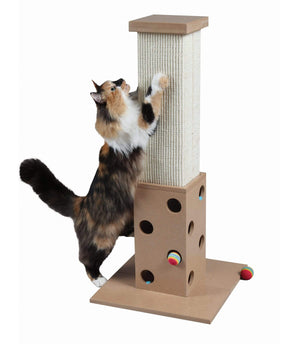 Pet Stop Store Modern Interactive Scratch 'N Play Cat Post with Toy Balls