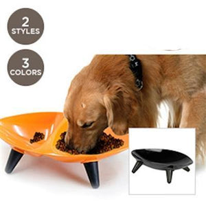Pet Stop Store Orange Melamine Double Food & Water Dog Bowl