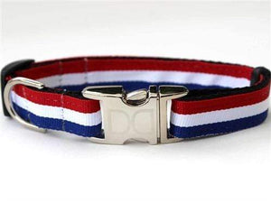 Pet Stop Store Patriotic Red, White & Blue Dog Collar & Leash