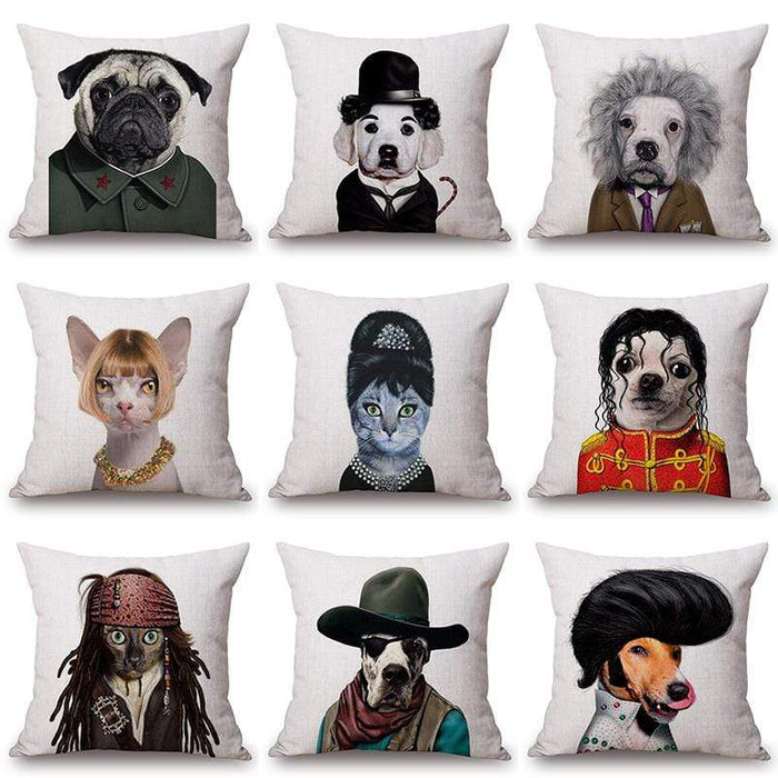 Playful & Unique Eco-Friendly Cartoon Printed Dog Pillow Covers