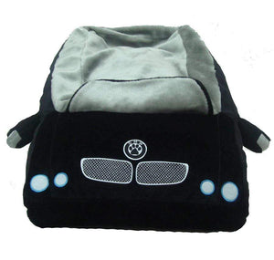 Pet Stop Store Modern Plush Black Convertible DMW Sports Car Pet Bed