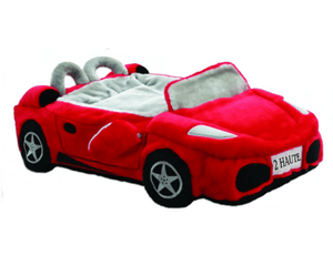 Pet Stop Store Plush Red Sports Car Dog Bed