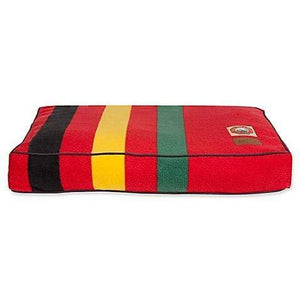 Pet Stop Store Ranier Red & Striped Design Pattern Pet Bed