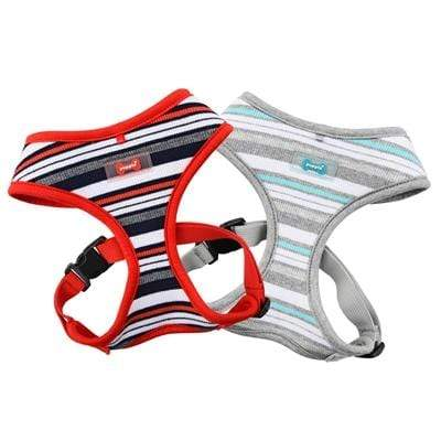 Red & Gray Striped Oceane Dog Harnesses All Sizes at Pet Stop Store