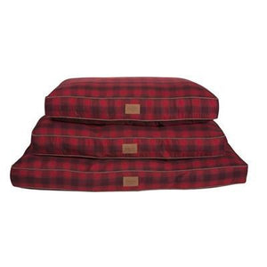Pet Stop Store Red Ombre Plaid Pet Napper Dog Bed