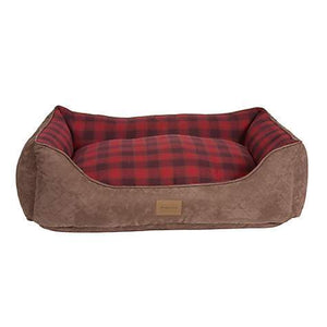 Pet Stop Store Red Ombre Plaid Kuddler Dog Bed