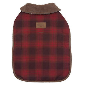 Pet Stop Store Red Ombre Plaid Winter Dog Coat