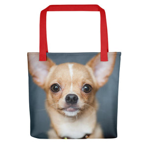 Pet Stop Store Red Perky Cute Chihuahua Tote Bag