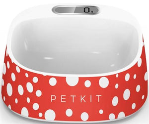 Pet Stop Store Red & White Smart Digital Anti-Bacterial Digital Feeding Pet Bowl in 4 Colors