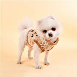 Pet Stop Store s beige Zuri Dog Harness Vest in Pink, Beige & Gray