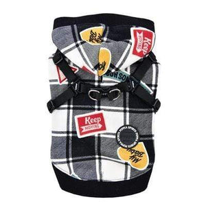 Pet Stop Store s black Playful Red & Black Hooded Dog Harnesses for Dogs All Sizes