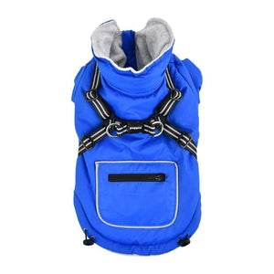 Pet Stop Store s blue Mallory Dog Vest w/Integrated Harness in Colors Red, Blue & Yellow