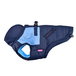 Pet Stop Store s blue Pink & Blue Tintin  Puffer Dog Vest Harness